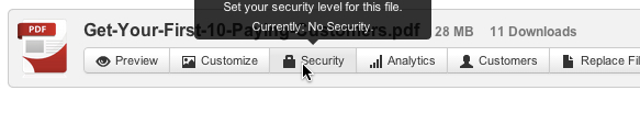 Digioh Security Settings