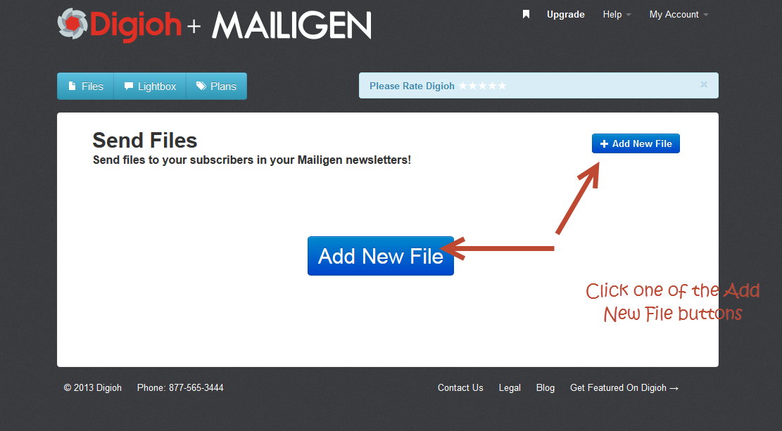 mailigen add new file