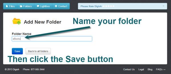 Digioh folder tutorial